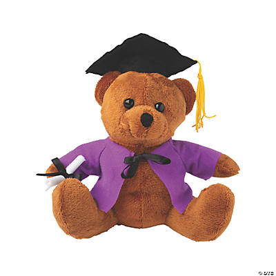 Personalized Graduation Stuffed Bear - Purple Audio Thumbnail