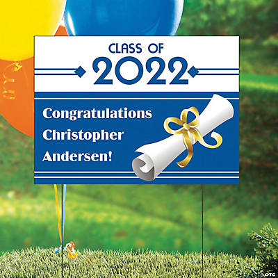 Personalized Graduation Yard Sign Image Thumbnail