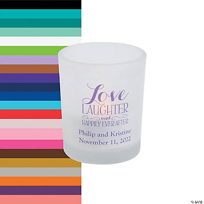 Personalized Happily Ever After Votive Holders