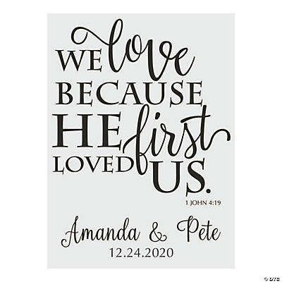 Personalized He Loved Us First Wedding Cling Image Thumbnail