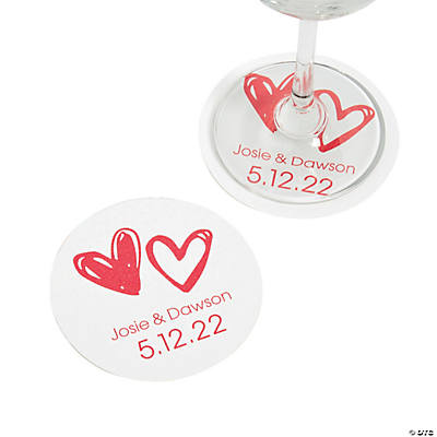 Personalized Hearts Coasters