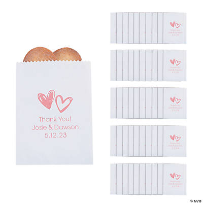 Personalized Hearts Treat Bags Image Thumbnail