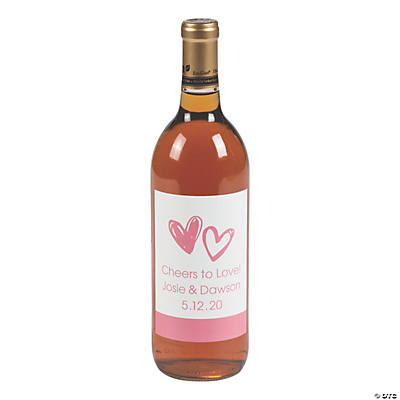 Personalized Hearts Wine Bottle Labels Audio Thumbnail