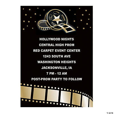 Personalized Hollywood Event Invitations Image Thumbnail