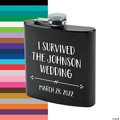 Personalized I Survived Flask - Black