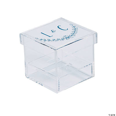 Personalized Initials Clear Ring Box