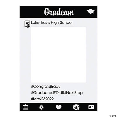 Personalized Instaframe Graduation Photo Booth Cutout