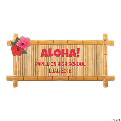 Personalized Island Luau Sign Image Thumbnail