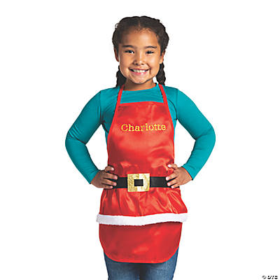 Personalized Kid's Santa Apron Image Thumbnail