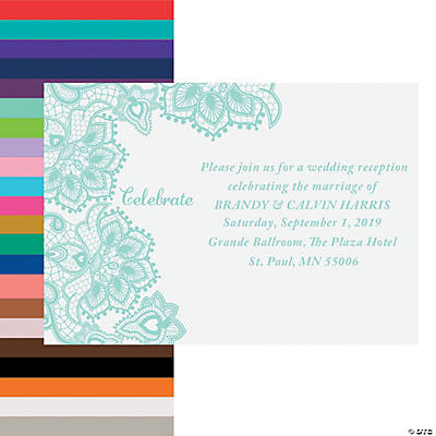 Personalized Lace Pattern Reception Cards