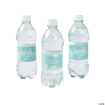 Personalized Lace Pattern Water Bottle Labels Image Thumbnail