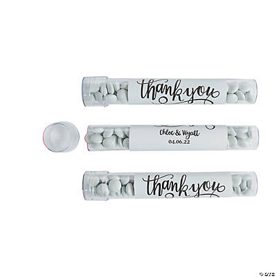 Personalized Large Thank You Favor Tubes Image Thumbnail