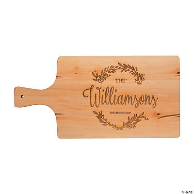 Personalized Laurel Leaf Birch Cutting Board