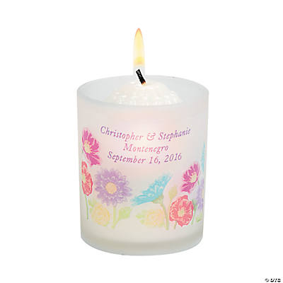 Personalized Love in Bloom Votive Candle Holders