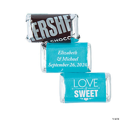 Personalized Love is Sweet Mini Candy Bar Sticker Labels Image Thumbnail