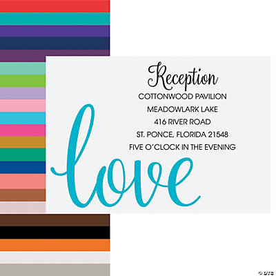 Personalized Love Script Reception Cards