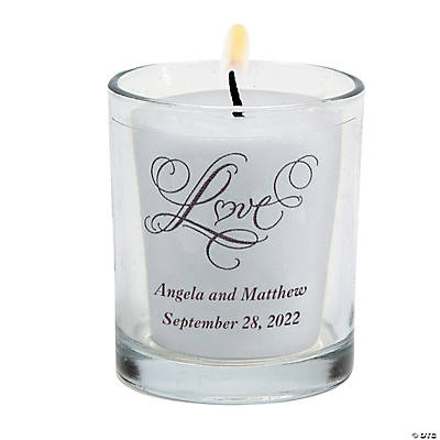 Personalized Love Wedding Votive Candle Holders Image Thumbnail