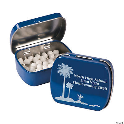 Personalized Luau Mint Tins