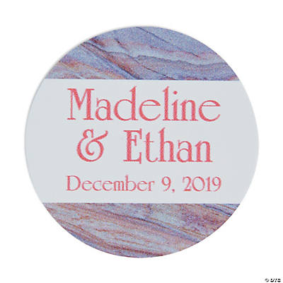 Personalized Marble Design Favor Stickers