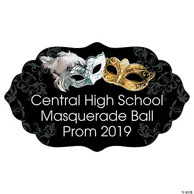 Personalized Masquerade Ball Cardboard Arch Sign Image Thumbnail