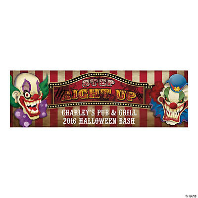Personalized Medium Big Top Terror Vinyl Banner Halloween Décor
