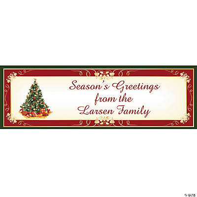 Personalized Medium Christmas Tree Vinyl Banner