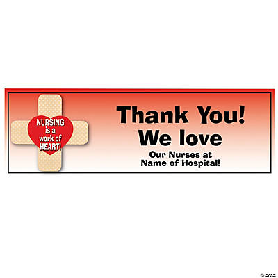 Personalized Medium Nurses Week Vinyl Banner