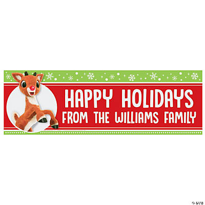 Personalized Medium Rudolph the Red-Nosed Reindeer<sup>®</sup> Vinyl Banner