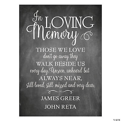 Personalized Memorial Printed Chalk Sign Image Thumbnail