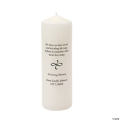 Personalized Memorial Verse Candle