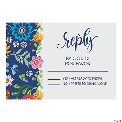 Personalized Mexican Floral Wedding Response Cards