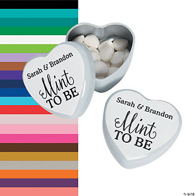 Personalized Mint to Be Heart Mint Tins