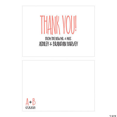 Personalized Modern Simple Thank You Cards