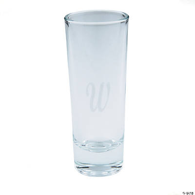 Personalized Monogram Tall Shot Glasses