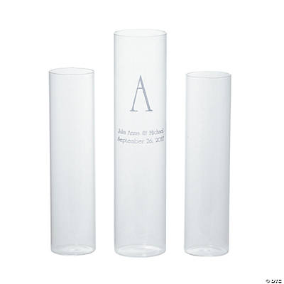 Personalized Monogram Unity Sand Ceremony Cylinders