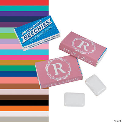 Personalized Monogram Wedding Beechies<sup>&#174;</sup> Gum Image Thumbnail