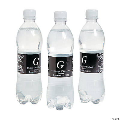 Personalized Monogrammed Water Bottle Labels Image Thumbnail