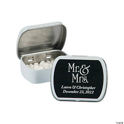 Personalized Mr. & Mrs. Wedding Mint Tins Image Thumbnail