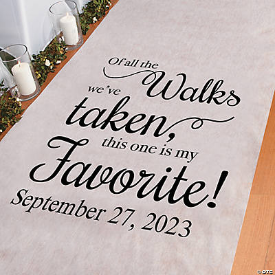Personalized My Favorite Walk Aisle Runner Image Thumbnail
