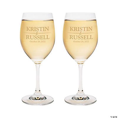 Personalized Names Wine Glasses Image Thumbnail
