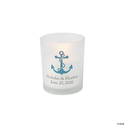 Personalized Nautical Votive Candle Holders Image Thumbnail