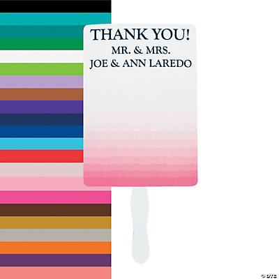 Personalized Ombre Pattern Favor Fans Image Thumbnail