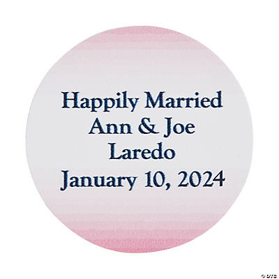 Personalized Ombre Pattern Wedding Favor Stickers