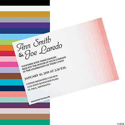 Personalized Ombre Pattern Wedding Invitations