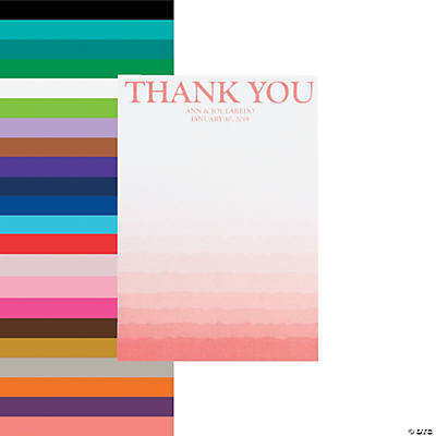Personalized Ombre Pattern Wedding Thank You Cards