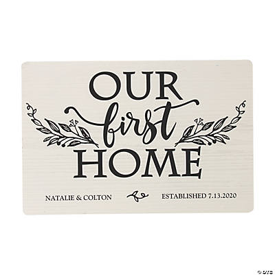 Personalized Our First Home Sign Image Thumbnail