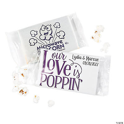 Personalized Our Love Is Poppin' Mini Popcorn Bags Image Thumbnail