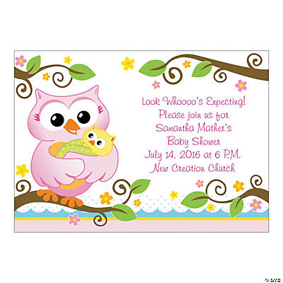 Personalized Owl Baby Shower Invitations Image Thumbnail