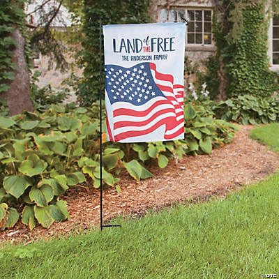 "Personalized Patriotic Garden Flag - 13"" x 18 1/2"" Image Thumbnail"