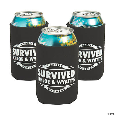 Personalized Premium I Survived Wedding Neoprene Can Coolers Image Thumbnail